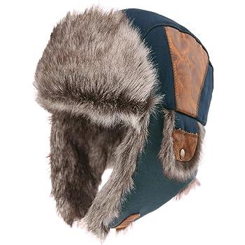 Dickies Trapper Hat Mens Fur Lined Fleece Black Winter HA8001