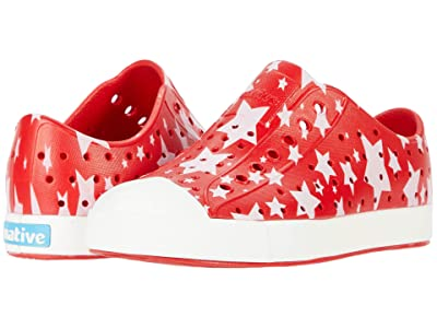 Native Kids Shoes Jefferson Stars and Stripes Print (Little Kid) (Torch Red/Shell White/Multi Stars) Kids Shoes