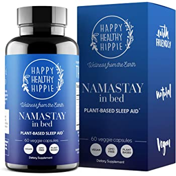 Namastay in Bed Natural Sleep Aid Supplement – Total Sleep Cycle Support – Non-Groggy, Non-Addictive Herbal Sleeping Pill - Aids Relaxation So You Gently Sleep All Night and Awaken Re-Energized