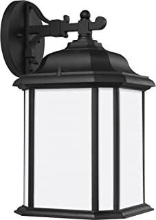 Seagull Sea Gull 84531EN3-12 Transitional One Light Outdoor Wall Lantern from Kent Collection in Black Finish
