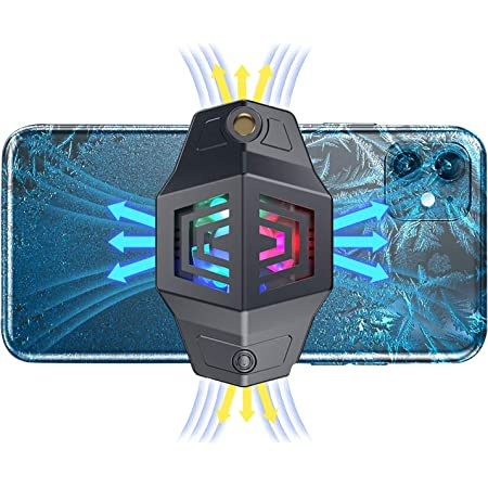 IVY 2021 Smart Phone Cooler Fan with Semiconductor Refrigeration and Wind Cooling for Gaming,Tiktok Live Streaming,Outdoor Vlog,Compatible with All Smart Phone - Gray