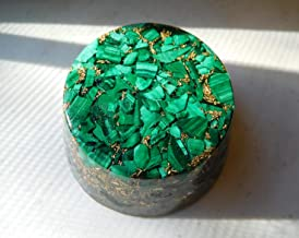 Malachite Tower Buster Orgone Generator Energy Accumulator PERFECT GIFTING TOOL! Made 7.83Hz/432Hz/528Hz Frequency with OM Chants Beautiful Ingredients!