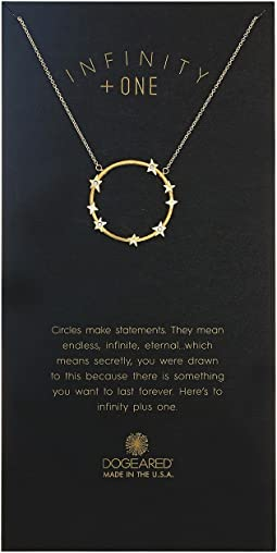 Infinity + One, Large Crystal Halo Necklace