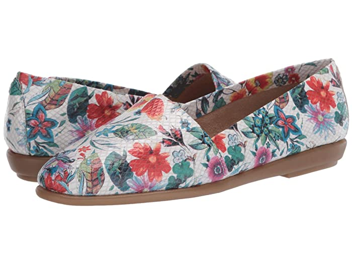 Aerosoles  Ms Softee (White Floral Multi) Womens  Shoes