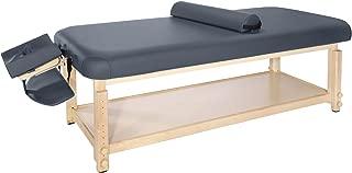 Master Massage 30''Laguna Stationary Massage Table, Navy Blue