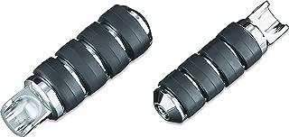 Kuryakyn 8003 Motorcycle Footpegs: Large ISO Pegs with Bullet Style Female Mount Adapters, Chrome, 1 Pair