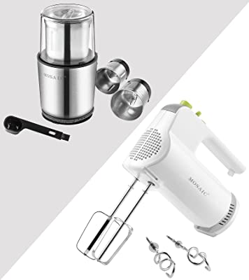 MOSAIC New Model Electric Spice Ginder and Powerful 5 Speed Electric Hand Mixer