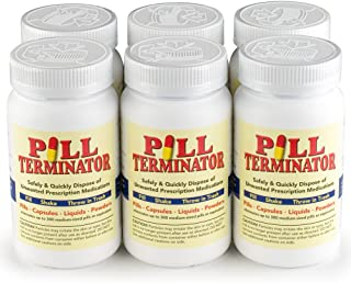 Pill Terminator - Safe Pill Disposal Container, Pack of 6