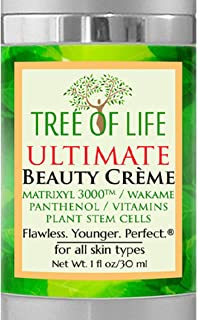 Anti Aging Cream for Face and Skin - Plant Stem Cells, Matrixyl, Astaxanthin, Vitamins C & E, Panthenol, Wakame Bioferment - Anti Wrinkle Anti Aging Crã¨Me 1 Ounce
