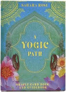 54Pcs A Yogic Path Oracles Deck Card Electronic Guidebook Tarot Game Toy Tarot Divination Guide Ancient Yogic Wisdom(2 Box)