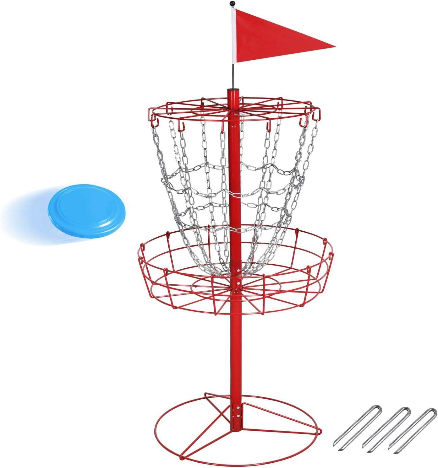 Topeakmart Portable Disc Golf Practice Sport Basket Rack Max 51% Cash special price OFF Di