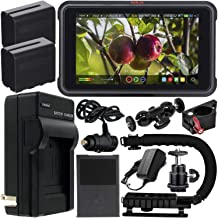"""Atomos Ninja V 5"""" 4K HDMI Recording Monitor with Power Bundle & Accessory Kit – Includes: 2x Extended Life NP-F975 Batteri..."""