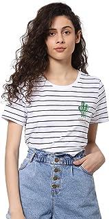 Only OnlKita Life Cactus Top T-Shirt Sharp Slim White Bianca 15203523