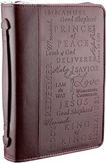 Names of Jesus Burgundy Bible / Book Cover (Large)