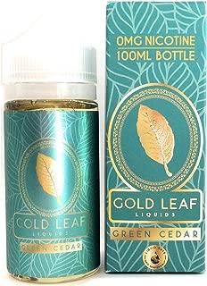 GOLD LEAF LIQUIDS GREEN CEDAR 100ML 電子タバコ vape リキッド