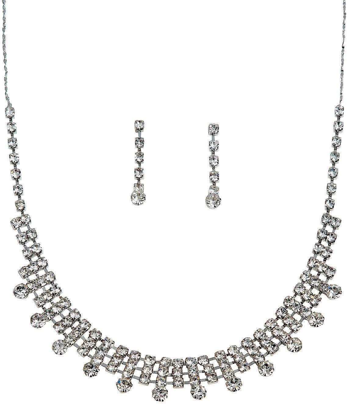 Fun Express - The Elizabeth Rhinestone Jewelry Set for Wedding - Jewelry - Adult Jewelry - Rhinestone - Wedding - 3 Pieces