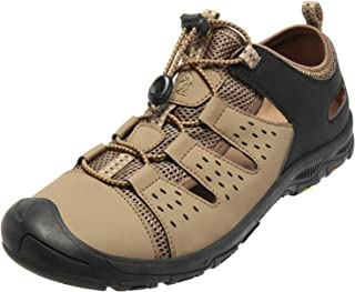 CAMEL Men's Waterproof Hiking Sandals Closed-Toe Water Shoes Athletic Sport Sandals for Men Outdoor Beach