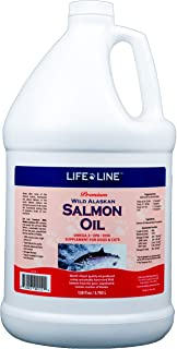 Life Line Pet Nutrition Wild Alaskan Salmon Oil Omega-3 Supplement for Skin & Coat – Supports Brain, Eye & Heart Health in Dogs & Cats