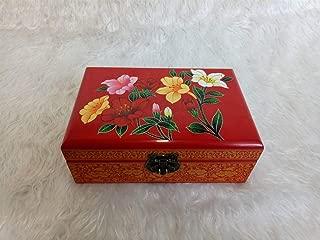 KTYXDE Wooden Push Lacquer Ware Storage Vanity Box Cosmetic Box Wedding Jewelry Box Cosmetic case (Color : E)