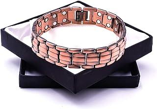 Chunky Powerful Magnetic Copper Bracelet for Arthritis - Chain Design Unisex 42 Magnets