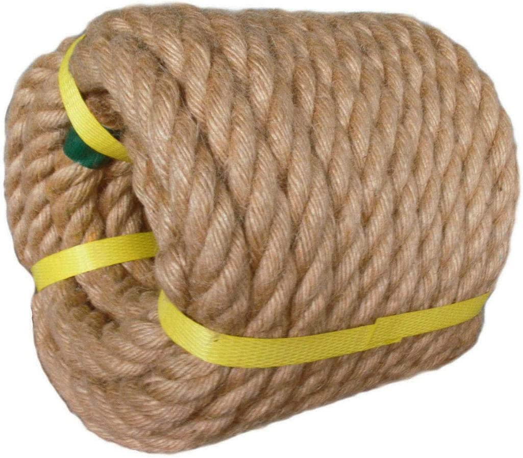 Twisted Manila Rope Jute 3 4 in 50 ft Thick free shipping Natural x Manufacturer regenerated product Hem