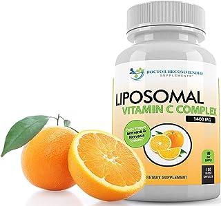 Sponsored Ad - Liposomal Vitamin C 1400mg Per Serving - 180 Veggie Capsules High Absorption Ascorbic Acid, Lypo-Spheric Vi...