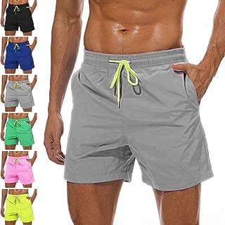 YnimioAOX Men's Swim Trunks Quick Dry Beach Board Shorts Swimwear Bathing Suit with Mesh Lining