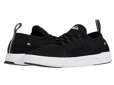 Quiksilver Summer Stretch Knit Shoes (Black/Black/White) Men