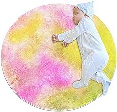 Dröm, barn rund matta polyester kasta område matta mjuk pedagogisk tvättbar matta barnrum tipi tält lekmatta