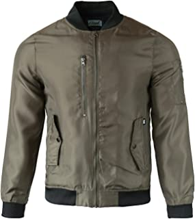 Men's Heavy Weight Outfit Quilted Bomber Jacket with Side Pockets