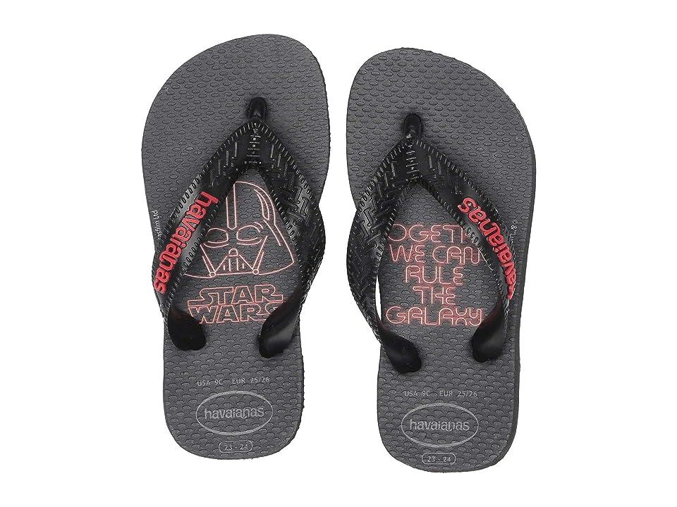 Havaianas Kids Max Star Wars Flip Flops (Toddler/Little Kid/Big Kid) (Black/Red) Boys Shoes