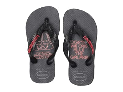 Havaianas Kids Max Star Wars Flip Flops (Toddler/Little Kid/Big Kid) (Black/Red) Boys Shoes