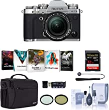 Fujifilm X-T3 26.1MP Mirrorless Camera with XF 18-55mm f/2.8-4 R LM OIS Lens, Silver - Bundle with Case, 32GB SDHC Card, 58mm Filter Kit, Cleaning Kit, Memory Wallet, Card Reader, PC Software Pack