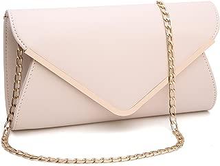 Womens Faux Leather Envelope Clutch Bag Evening Handbag Shoulder Bag Wristlet Dress Purse,Large.