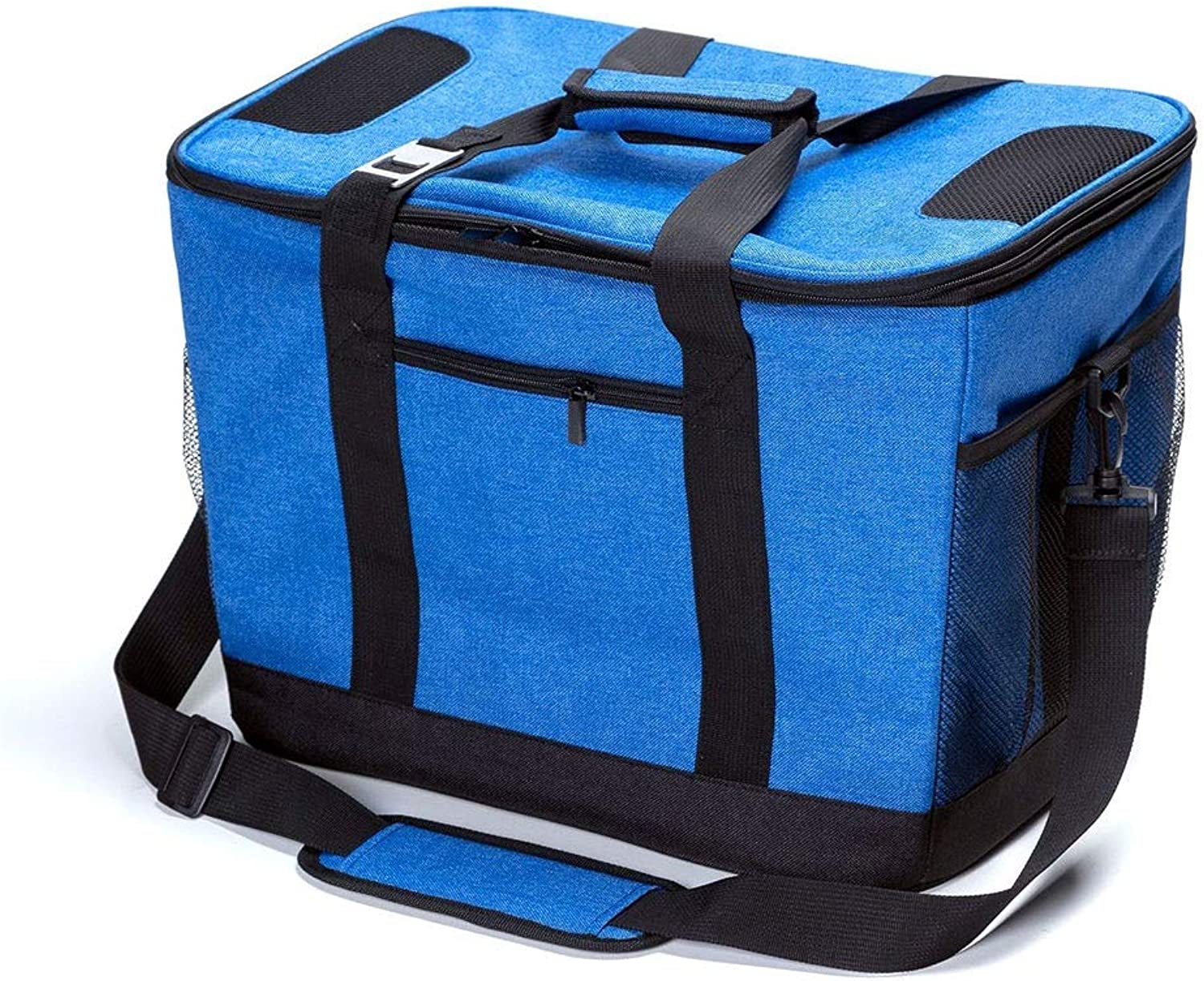 GJFeng Ice Pack Yang Off Linen Portable Insulated Lunch Box Ice Pack Takeaway Food Delivery Fresh Package Portable Wear Waterproof Bag (color   blueee, Size   45  30  32CM)