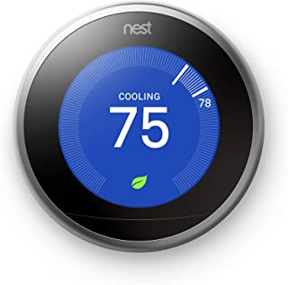 Nest (T3007ES) Learning Thermostat, Easy Temperature...