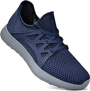Simasoo Women Sneakers Ultra Lightweight Mesh Gym Running Walking Tennis Shoes Multi Size: 10 US Blue/Grey