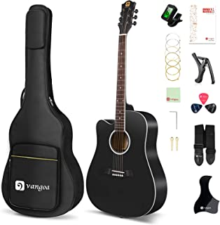 Vangoa Left Handed Acoustic Guitar, 41 Inch Full Size Cutaway Lefty Acustica Guitarra Bundle with User Manual and Gig Bag,...