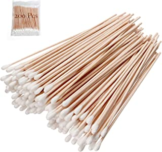 200 PCS Count 6 Inch Extra Long Cotton Swabs With Wooden Handles - Long Stem Cotton Swabs Tipped Applicator Tool For Makeu...
