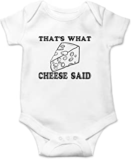That's What Cheese Said - Funny Cheesy Quote - Sarcastic Pun - Cute One-Piece Infant Baby Bodysuit