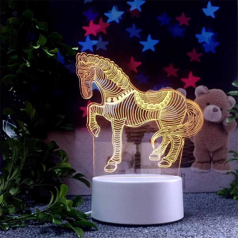 MTX Ltd Nachtlicht Kreative Tischlampe Traum Mdchen Schlafzimmer Führte Pferd Nachtlicht Plug-In Nachttischlampe Geburtstagsgeschenk