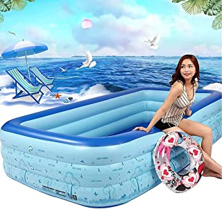 ARTF Engrosada plegable Familia Salón piscina piscina inflable, inflable piscina infantil for los Kiddie, adultos, Easy Set piscina for el patio trasero, Fiesta del Agua Verano (Enviar una bomba), 300