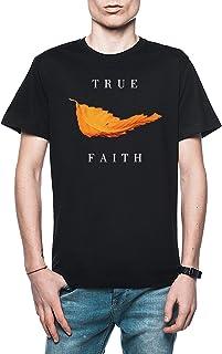 New Order - True Faith Leaf Hombre Camiseta Negro Todos Los Tamaños - Men's T-Shirt Black