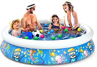 Jasonwell Inflatable Kids Kiddie Pool - Wading Pool Toddler Durable Swimming Pool Family Above Ground Pool Summer Outside ...