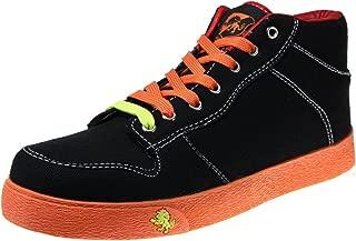 VLADO Footwear Spectro 1 Mid Top Sneaker, Black/Orange, IG-1060-701 (Size 10)