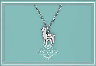 Rosa Vila Llama Necklace, Llama Gifts, Be Llamazing, Llama Stuff for Women, Alpaca Gifts, Mama Llama Gift Pendant, Alpaca Necklaces, Llama Jewelry for Women