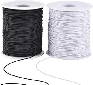 Zealor 2 Roll 0.8 mm Elastic String Cord Elastic Thread Beading String Cord for Jewelry Making Bracelets Beading 100 Meter...