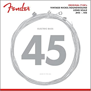 Best Fender 7150M Pure Nickel Roundwound Long Scale Electric Bass Guitar Strings - Medium Review