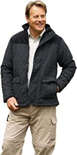 Champion Clothing Mens Champion Lewis Country Estate Traditional British Clothing Warm Diamond Quilted Fleece Lined Jacket...