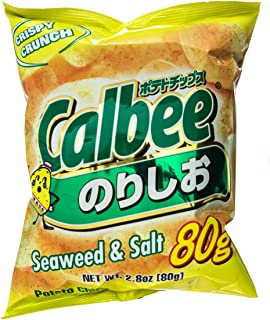Calbee Potato Chips Seaweed and salt